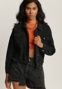 Czarna kurtka jeansowa Renee