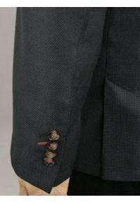 Szara marynarka Casino w kolorowe wzory, elegancka