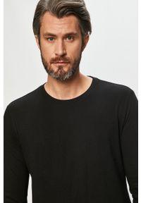 Czarna koszulka z długim rękawem GAP na co dzień, casualowa