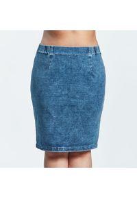 Spódnica Moda Size Plus Iwanek plus size, do kolan, w kolorowe wzory