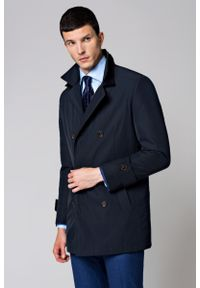 Niebieski płaszcz Lancerto elegancki, na zimę