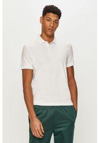 Biała koszulka polo Premium by Jack&Jones krótka, casualowa, na co dzień