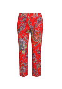 Czerwone spodnie Sportalm z nadrukiem