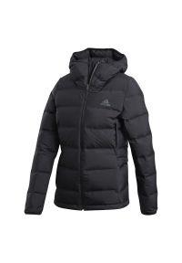 Czarna kurtka Adidas długa, z długim rękawem