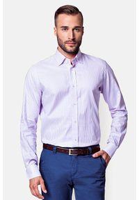 Lancerto - Koszula SINA. Typ kołnierza: button down. Kolor: różowy. Materiał: bawełna, dzianina, tkanina, prążkowany. Wzór: ze splotem, gładki, prążki, aplikacja. Sezon: lato. Styl: klasyczny