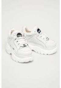 Białe sneakersy Buffalo z cholewką, na sznurówki #4