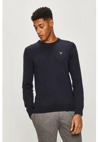 Niebieski sweter GANT casualowy, z długim rękawem, długi