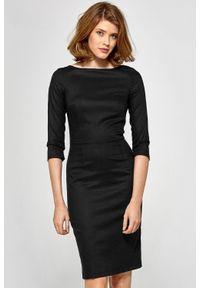 Sukienka midi, z krótkim rękawem, elegancka