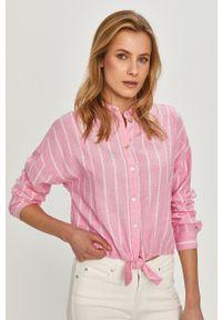 Koszula Tommy Jeans na co dzień, klasyczna, długa, z klasycznym kołnierzykiem