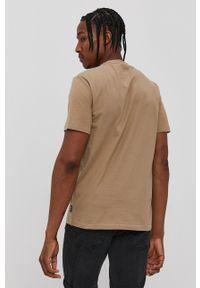 Only & Sons - T-shirt. Okazja: na co dzień. Kolor: beżowy. Materiał: dzianina. Wzór: gładki. Styl: casual
