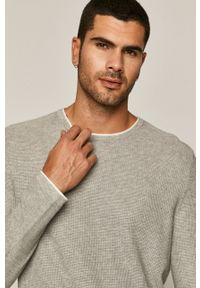 medicine - Medicine - Sweter Basic. Okazja: na co dzień. Kolor: szary. Materiał: dzianina. Długość rękawa: długi rękaw. Długość: długie. Styl: casual