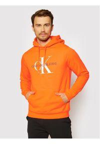 Calvin Klein Jeans Bluza J30J314557 Pomarańczowy Regular Fit. Kolor: pomarańczowy