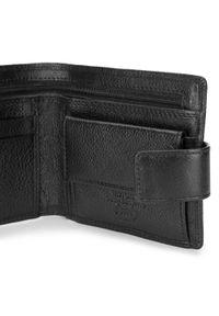 Wittchen - Męski portfel skórzany z zapięciem na napę. Kolor: czarny. Materiał: skóra #3