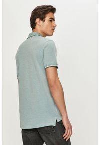 Niebieska koszulka polo Premium by Jack&Jones casualowa, krótka, na co dzień