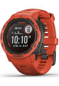 GARMIN - Zegarek sportowy Garmin Instinct Solar Czerwony (010-02293-20). Kolor: czerwony. Styl: sportowy