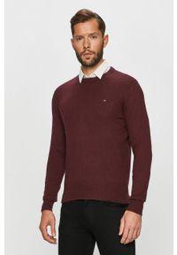 Brązowy sweter TOMMY HILFIGER casualowy, na co dzień