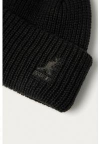 Kangol - Czapka. Kolor: czarny. Materiał: dzianina
