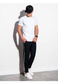 Biały t-shirt basic Ombre Clothing klasyczny