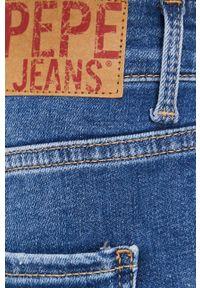 Pepe Jeans - Szorty jeansowe Mary Archive. Okazja: na co dzień. Stan: podwyższony. Kolor: niebieski. Materiał: denim. Styl: casual