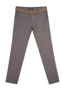Szare spodnie TOP SECRET z aplikacjami, na wiosnę
