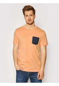 Jack & Jones - Jack&Jones T-Shirt Can 12193475 Pomarańczowy Regular Fit. Kolor: pomarańczowy
