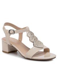 Beżowe sandały Clara Barson eleganckie, z aplikacjami