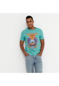 House - Koszulka z nadrukiem Mind Over Matter - Turkusowy. Kolor: turkusowy. Wzór: nadruk