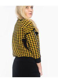 Deha - DEHA - Bluza w żółto czarną pepitkę. Kolor: czarny. Sezon: jesień. Styl: klasyczny