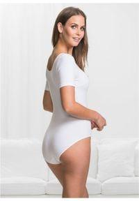Body z krótkim rękawem, bawełna organiczna bonprix biały. Kolor: biały. Materiał: bawełna. Długość rękawa: krótki rękaw. Długość: krótkie