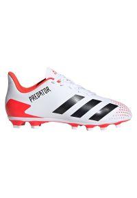 Adidas - Buty piłkarskie korki dla dzieci adidas Predator 20.4 FG EG0932. Materiał: syntetyk, materiał, neopren. Szerokość cholewki: normalna. Sezon: lato. Sport: piłka nożna