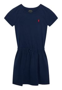 Niebieska sukienka Polo Ralph Lauren polo, prosta