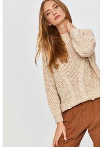 Kremowy sweter Answear Lab raglanowy rękaw, wakacyjny