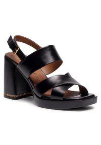 Czarne sandały Tory Burch