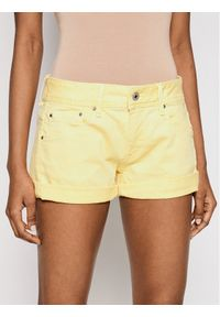 Żółte szorty jeansowe Pepe Jeans