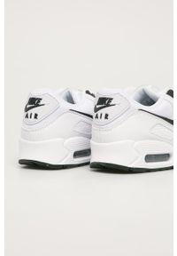 Białe sneakersy Nike Sportswear na sznurówki, z cholewką