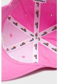 Różowa czapka z daszkiem Ellesse