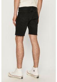 Dr. Denim - Szorty jeansowe. Okazja: na co dzień. Kolor: czarny. Materiał: jeans, denim. Styl: casual