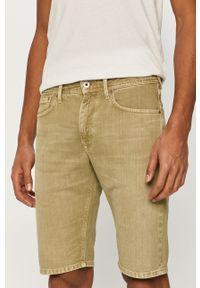 Zielone szorty Pepe Jeans gładkie, na co dzień, casualowe