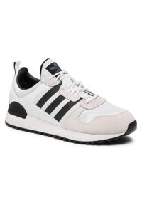 Białe półbuty Adidas retro, na sznurówki