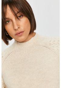 Kremowy sweter Answear Lab na co dzień, raglanowy rękaw, wakacyjny