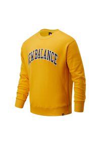 Żółta bluza New Balance z nadrukiem, na co dzień, casualowa