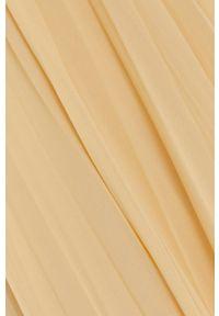Samsoe & Samsoe - Samsoe Samsoe - Sukienka. Kolor: żółty. Materiał: poliester. Długość rękawa: krótki rękaw. Typ sukienki: plisowane #6