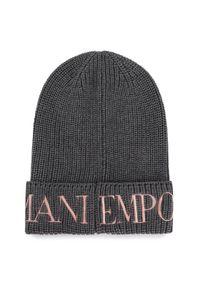 Szara czapka Emporio Armani