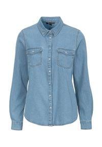 Happy Holly Dżinsowa koszula Beatrice light blue denim female niebieski 40/42. Kolor: niebieski. Materiał: denim. Styl: klasyczny