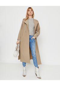 ISABEL MARANT - Szary sweter Erwany. Okazja: do pracy, na co dzień. Kolor: szary. Materiał: prążkowany, materiał, wełna. Długość rękawa: długi rękaw. Długość: długie. Styl: klasyczny, elegancki, casual