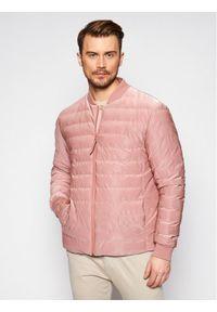 Różowa kurtka przejściowa Rains na co dzień, casualowa