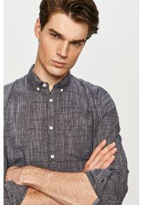 Niebieska koszula Tom Tailor długa, button down, na co dzień, casualowa