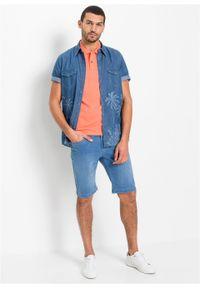 """Bermudy dżinsowe ze stretchem Regular Fit, bawełna organiczna bonprix niebieski """"bleached used"""". Kolor: niebieski"""