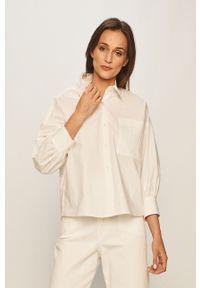 Biała koszula Pinko z klasycznym kołnierzykiem, elegancka, na co dzień