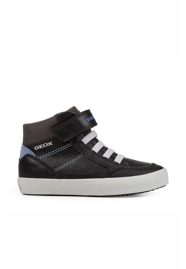 Czarne buty sportowe Geox z cholewką, na rzepy
